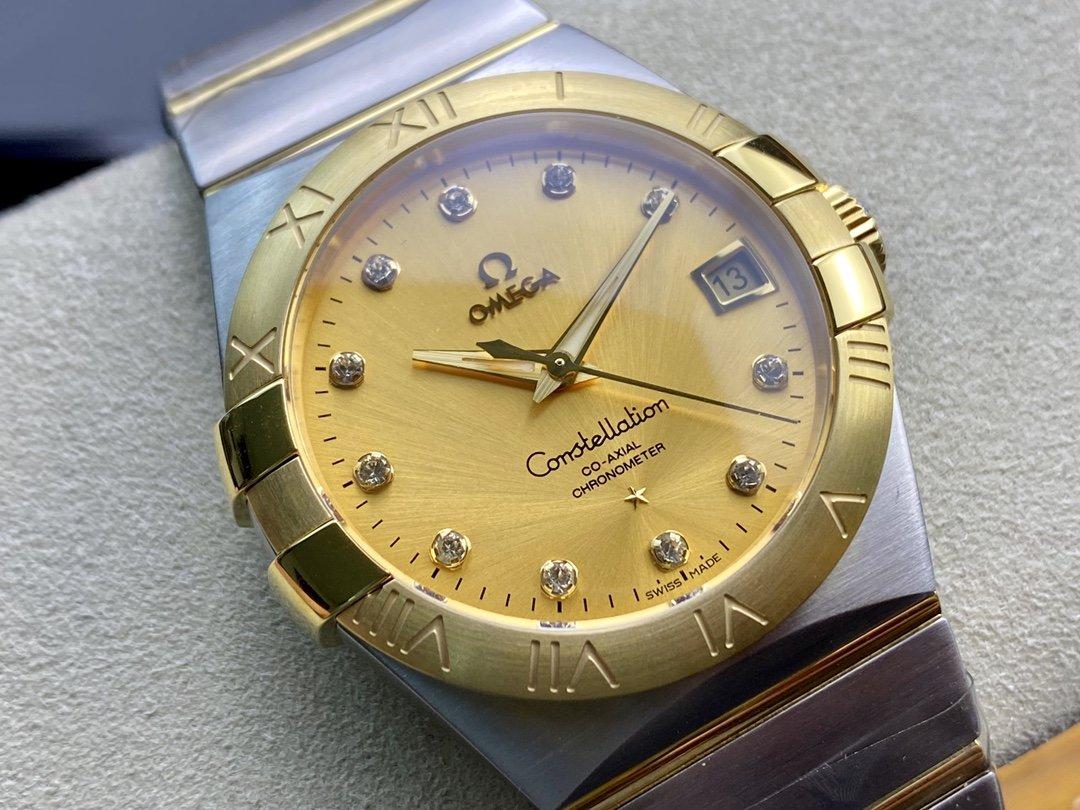SSS 3S 廠高仿歐米茄OMEGA 雙鷹星座系列男表 8500同軸機芯機械複刻手錶