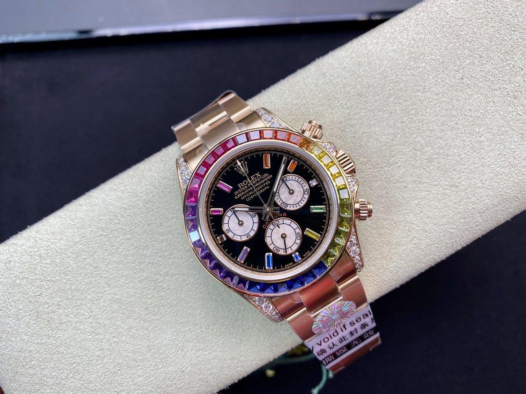 BL廠高仿勞力士全新迪通拿彩虹迪款型號:116599RBOW-116598RBOW-116595RBOW裝4130機芯40MM複刻手錶手表