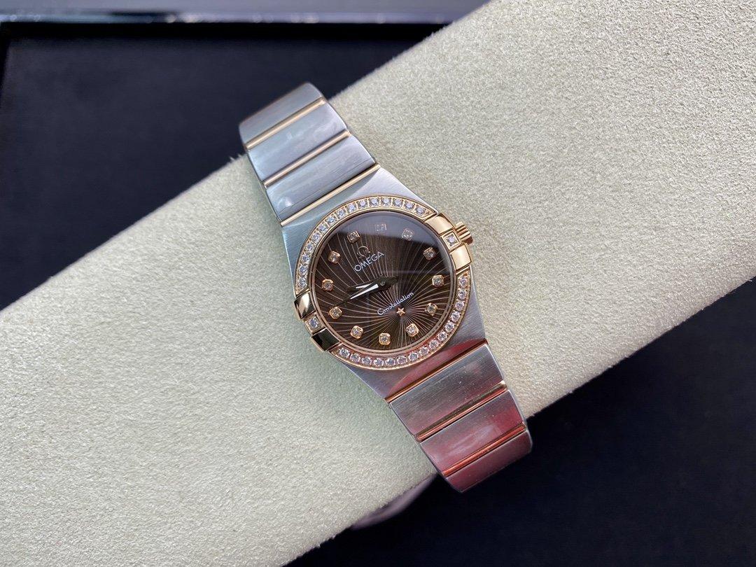TW精品高仿歐米茄星座系列27mm石英1376機芯複刻腕表