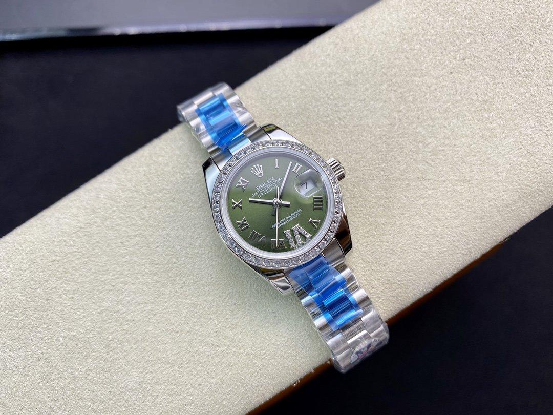 WF廠高仿勞力士女裝日誌型2671機芯28㎜日誌型279174-0009複刻手錶
