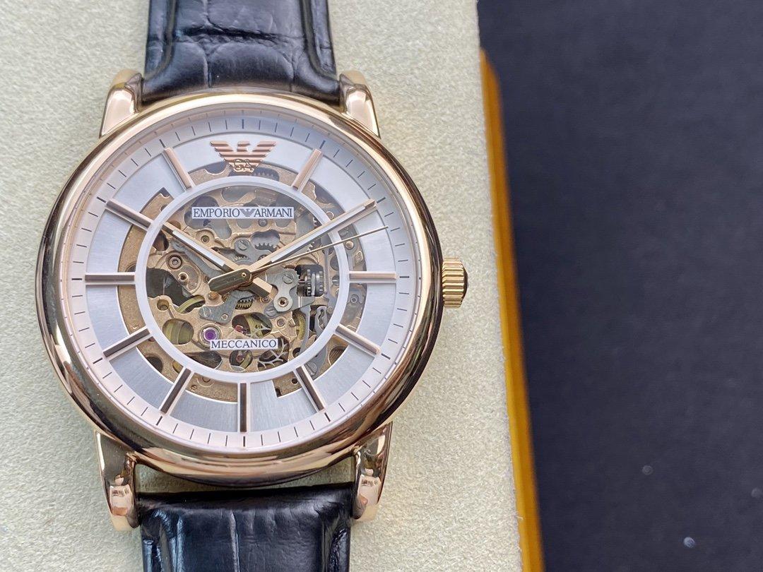 原單 阿瑪尼AR60007 型號:ar60007機械機芯43MM手錶