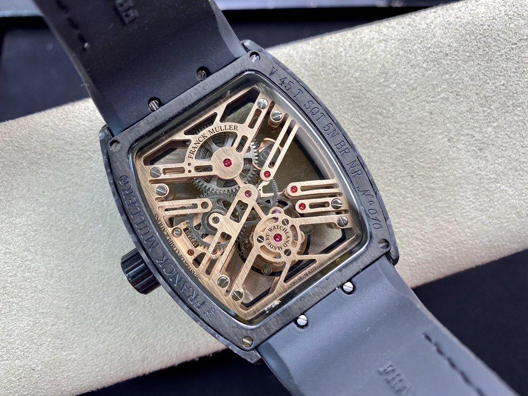 高仿法蘭克穆勒 法穆蘭 Frank Muller 先鋒系列 一體陀飛輪36MM複刻手錶