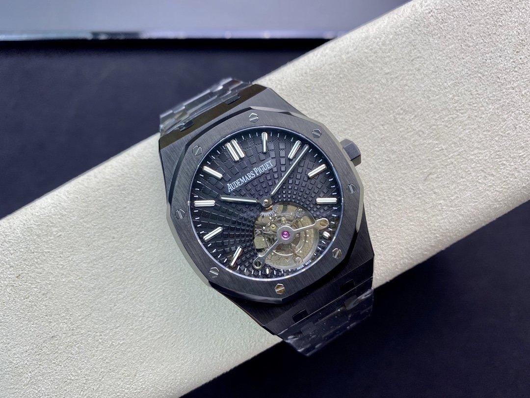 "R8.factory解讀最好的愛彼""陀飛輪""2020皇家橡樹2924陀飛輪機芯V2升級版,型號26522CE.00.1220TI.01 複刻手錶"