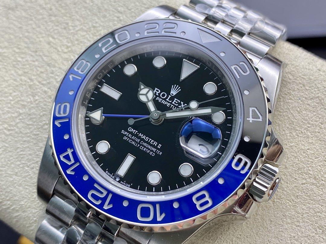 GM廠高仿勞力士格林尼治型GMT功能cal:3186/cal:3285機械機芯40MM複刻手錶手表