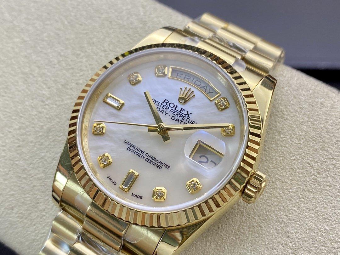 BP廠高仿勞力士星期日志型雙日曆2836機芯36mm複刻手錶手表