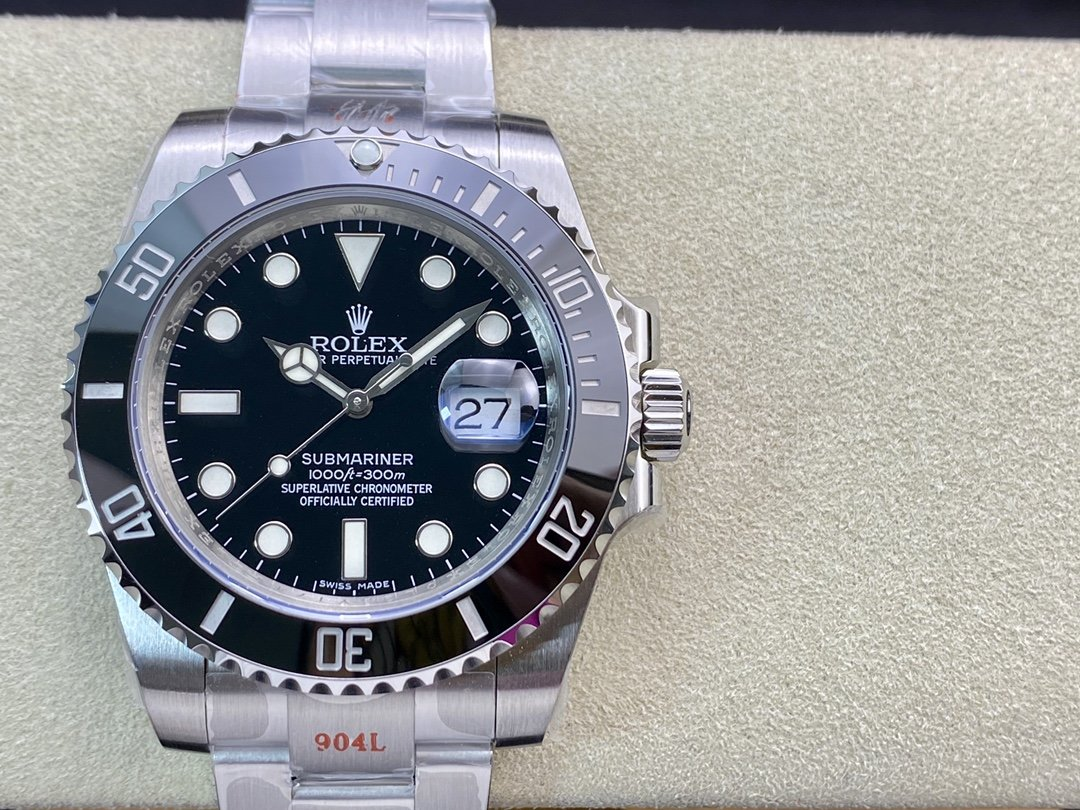 N廠V10S版高仿勞力士黑水鬼SUB潛航者系列3135機芯904鋼40MM複刻手錶