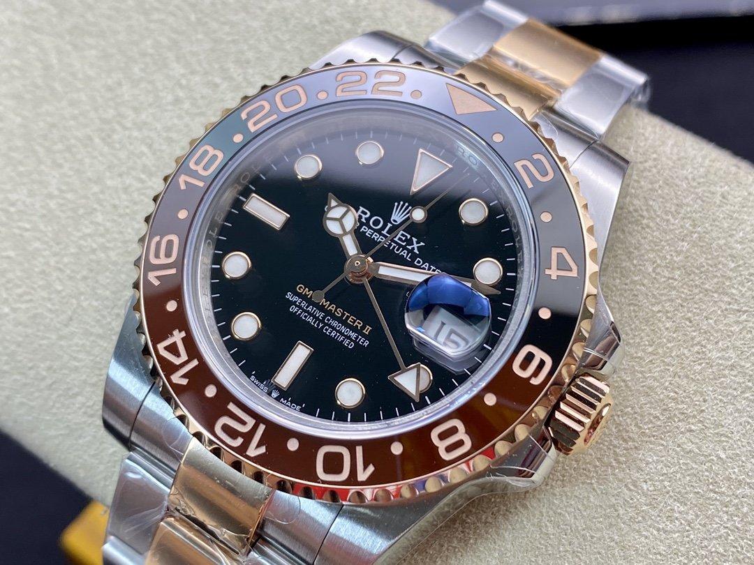 GMF廠高仿勞力士格林尼治型GMT功能cal:3186/cal:3285機械機芯40MM複刻手錶手表