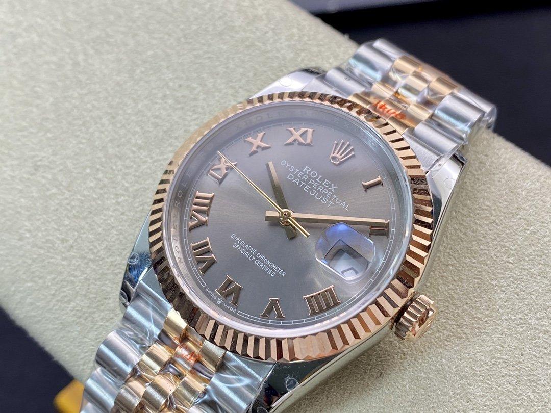 GM廠高仿勞力士包金包18K金日誌型中性表3235機芯36mm複刻手錶