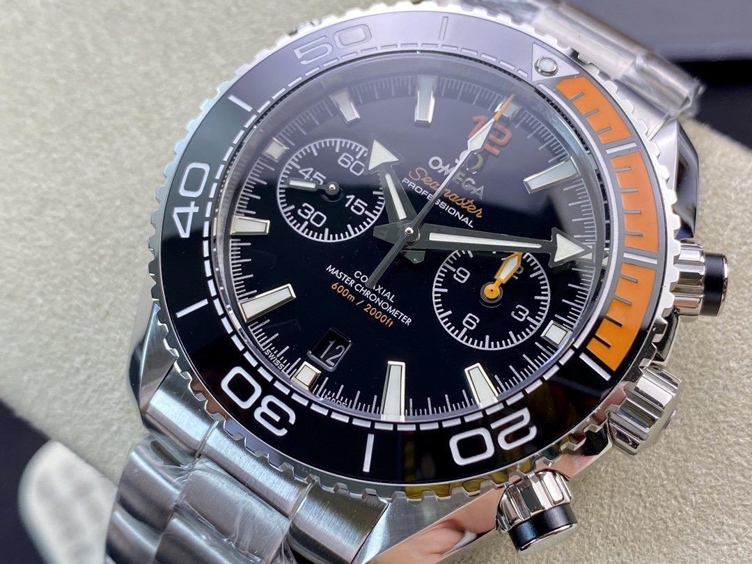 OM Factory廠V2版高仿歐米茄omega海馬600計時四分之一橙計時款45MM複刻手錶