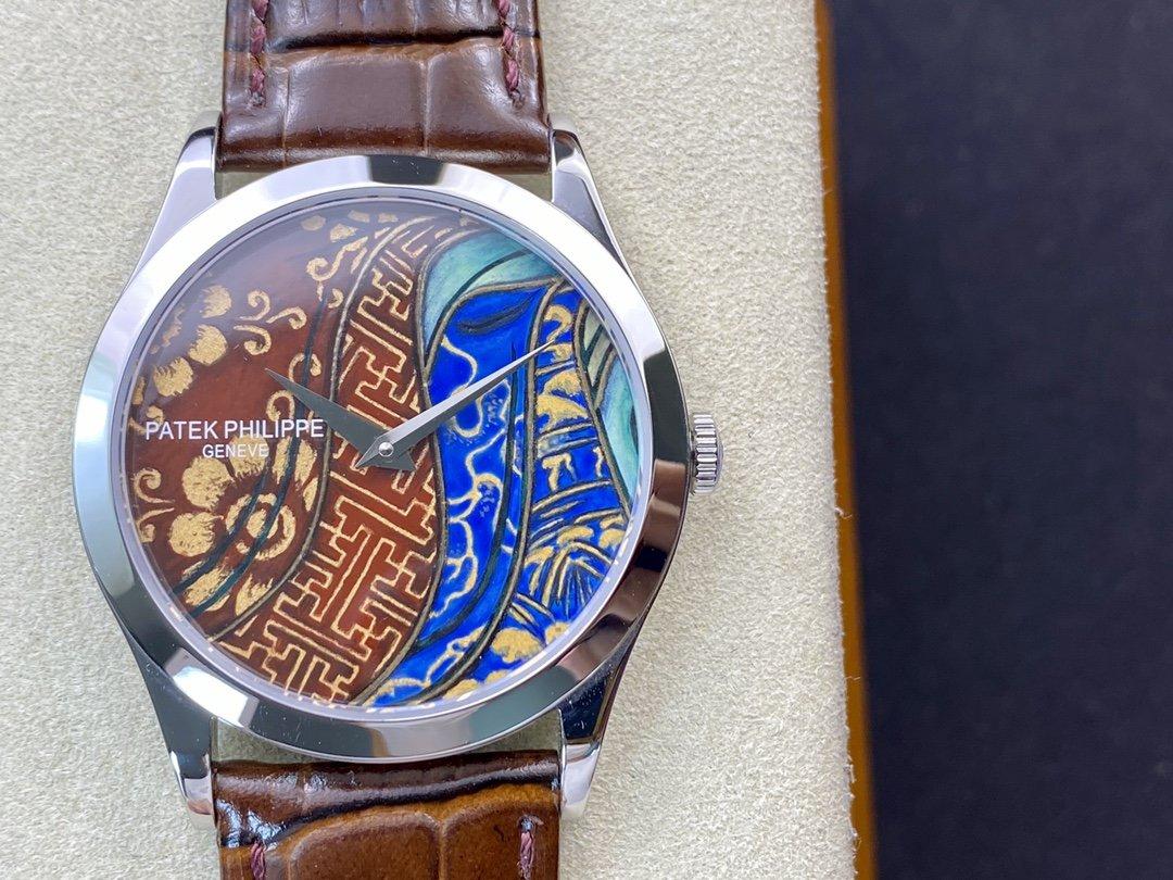 FL廠琺瑯廠百達翡麗撞色款5077系列Cal.240機械39MM複刻手錶