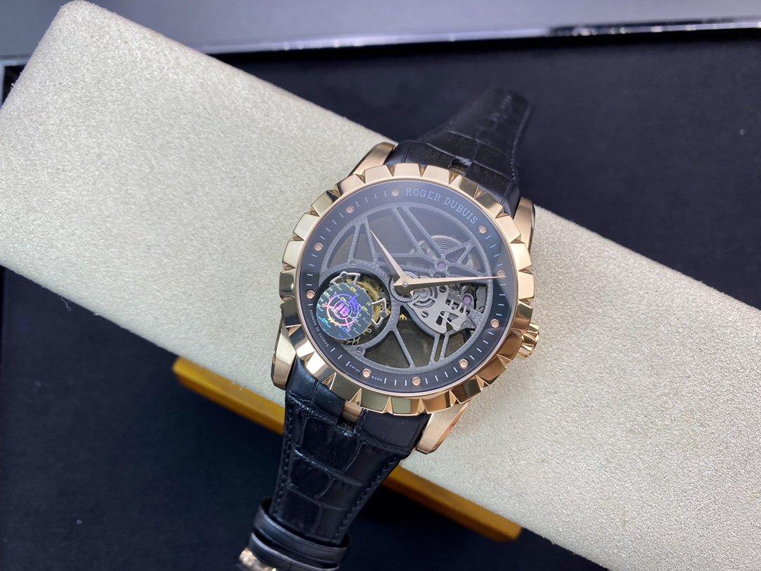 JB廠高仿羅傑杜彼陀飛輪王者系列V2升級版白殼RDDBEX0393(金殼RDDBEX0392)複刻手錶