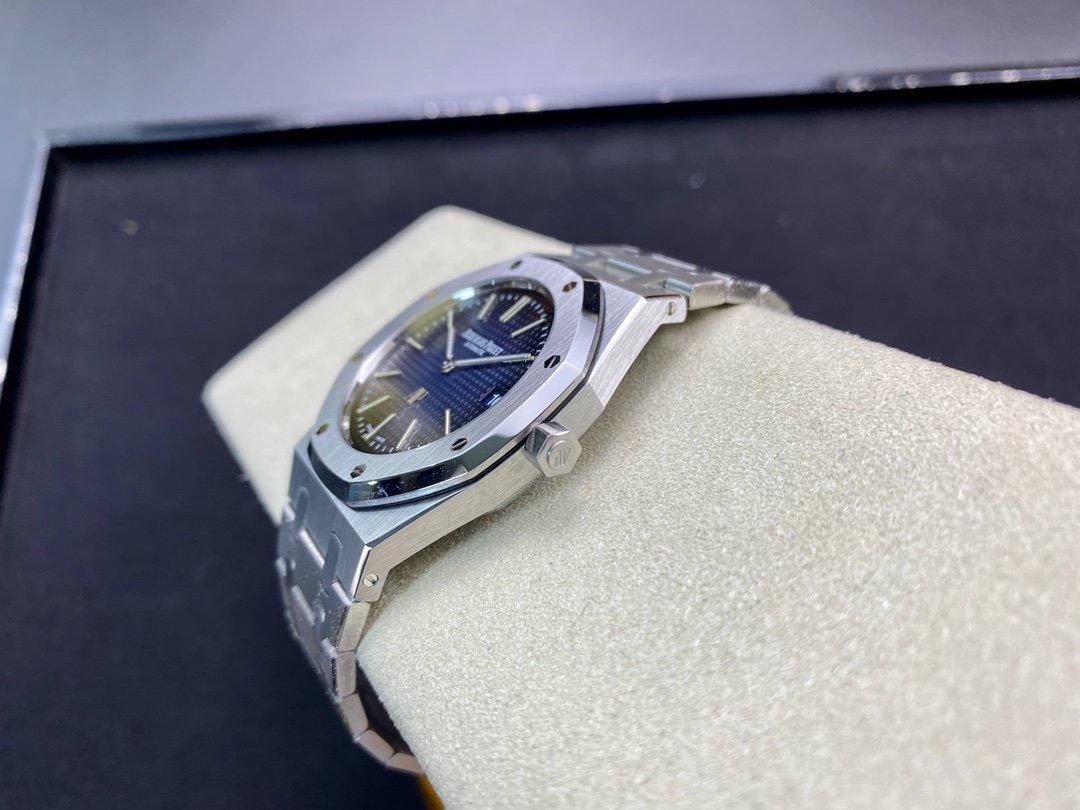 "XF廠高仿愛彼皇家橡樹15202 IP超薄""煙熏藍""定制39MM複刻手錶"