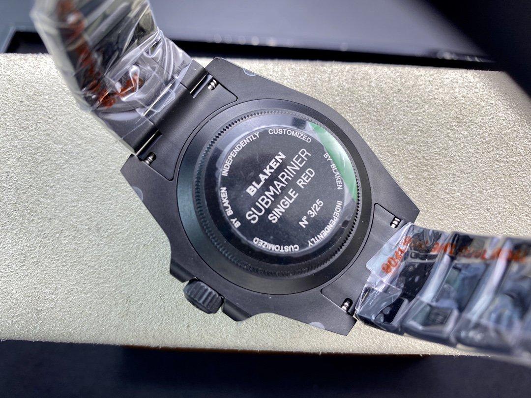 全球最牛改裝公司blaken 推出水鬼系列黑化黑水鬼綠水鬼2824機芯40MM複刻手錶