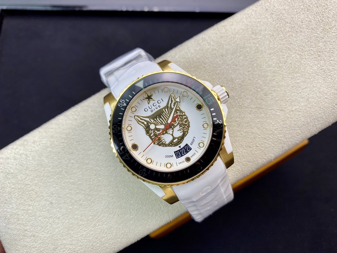 原單古馳GUCCl新款中性潛水表瑞士ETA石英機芯40 mm複刻手錶