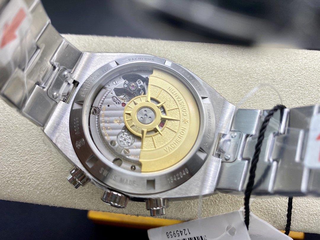 8F廠Vacheron Constantin 高仿江詩丹頓 Overseas 縱橫四海腕表7750改5200自動上鏈機械41MM計時複刻腕表