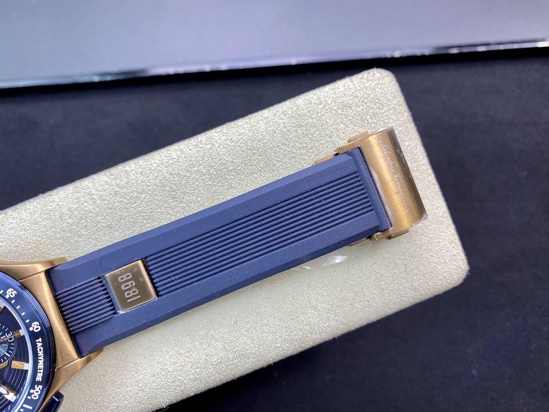 高仿菲拉格慕 復古銅色電鍍搭配土豪金原裝計時石英機芯44MM複刻手錶