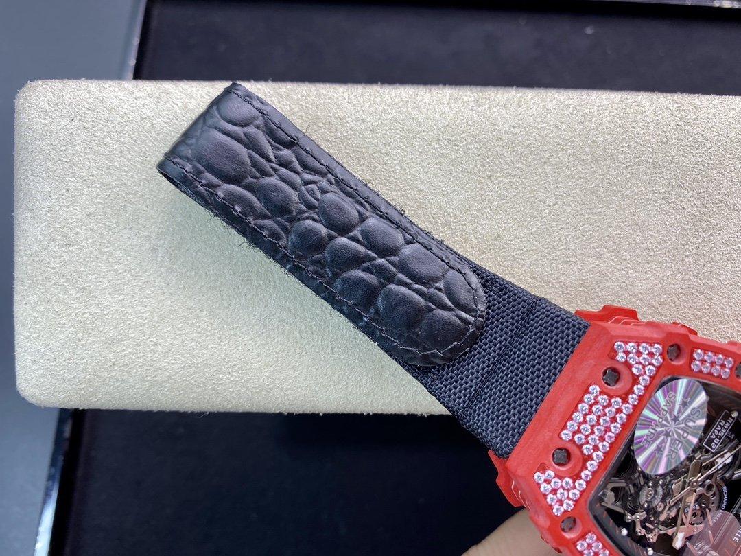 高仿理查徳米勒 Richard Mille RM35-02 鑲鑽款(紅魔)全紅碳纖維系列複刻手錶手表