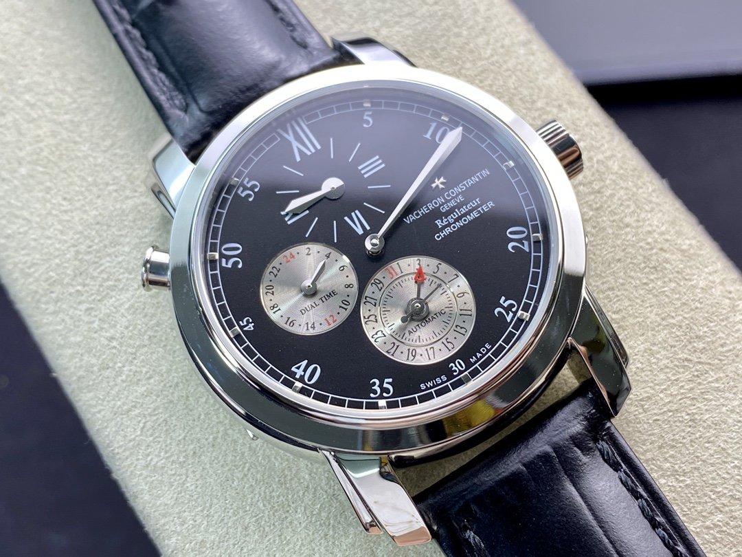 K11廠高仿江詩丹頓馬爾他系列42005兩地時腕表時分秒分離39MM複刻手錶手表