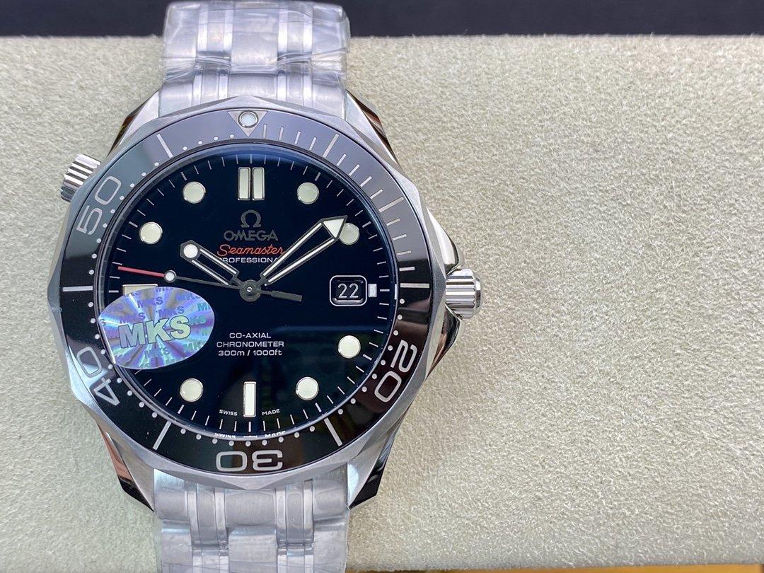 MKS廠高仿歐米茄陶瓷海馬300M系列2824機芯41MM複刻手錶