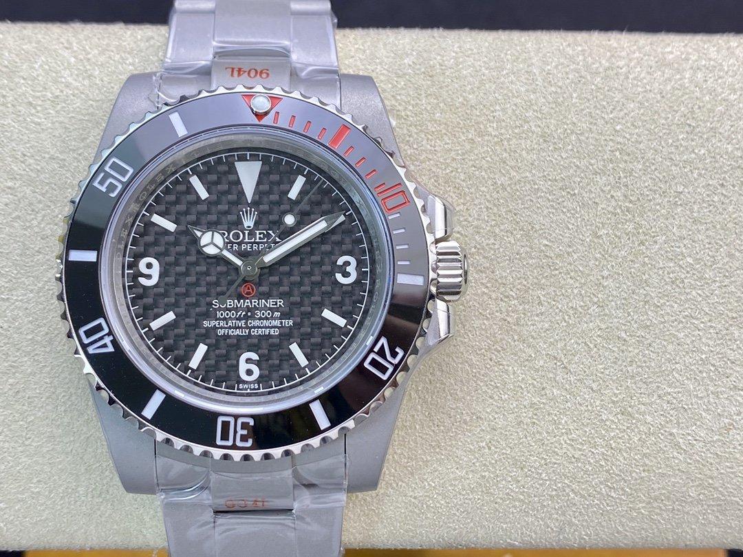 GM出品改裝表廠Artisans De Geneve 改裝無曆黑水鬼rough matt diver 3130機芯40MM複刻手錶