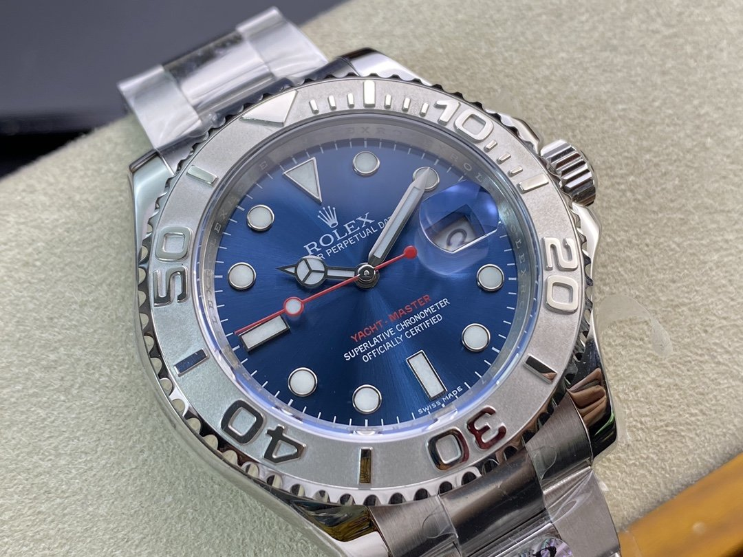 """AR廠超級神作高仿勞力士 Yacht-Master超級進口904L遊艇名仕型40mm""""實心針軸""""3135機芯系列複刻手錶"""
