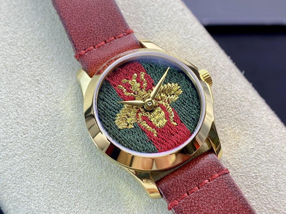 原單古馳Original G ucci最新小蜜蜂刺繡女表27MM複刻手錶