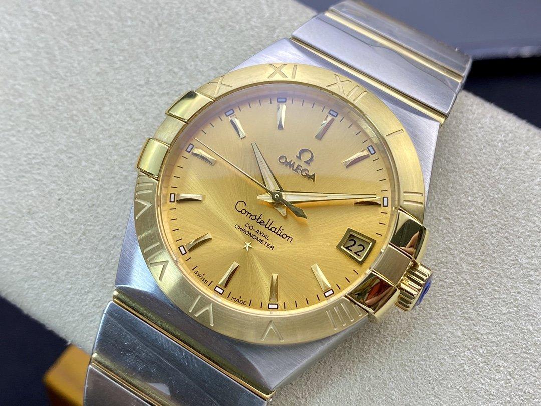 SSS 3S 廠高仿歐米茄OMEGA 雙鷹 星座系列38mm男款 8500同軸機芯機械複刻手錶
