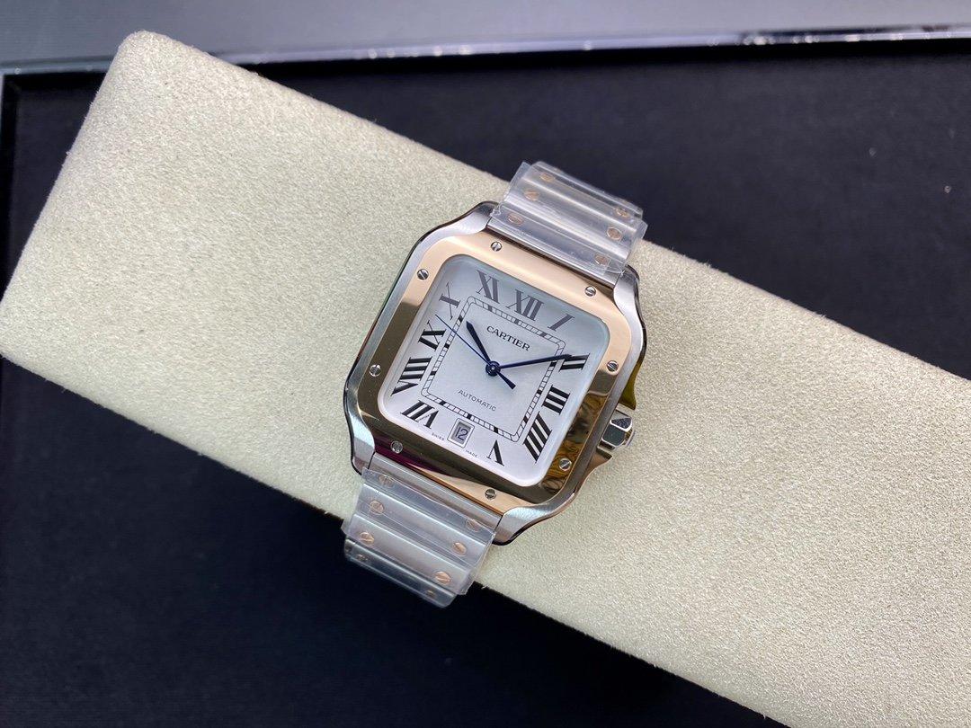 BV Factory高仿卡地亞Cartier新款山度士9015機芯40MM複刻手錶