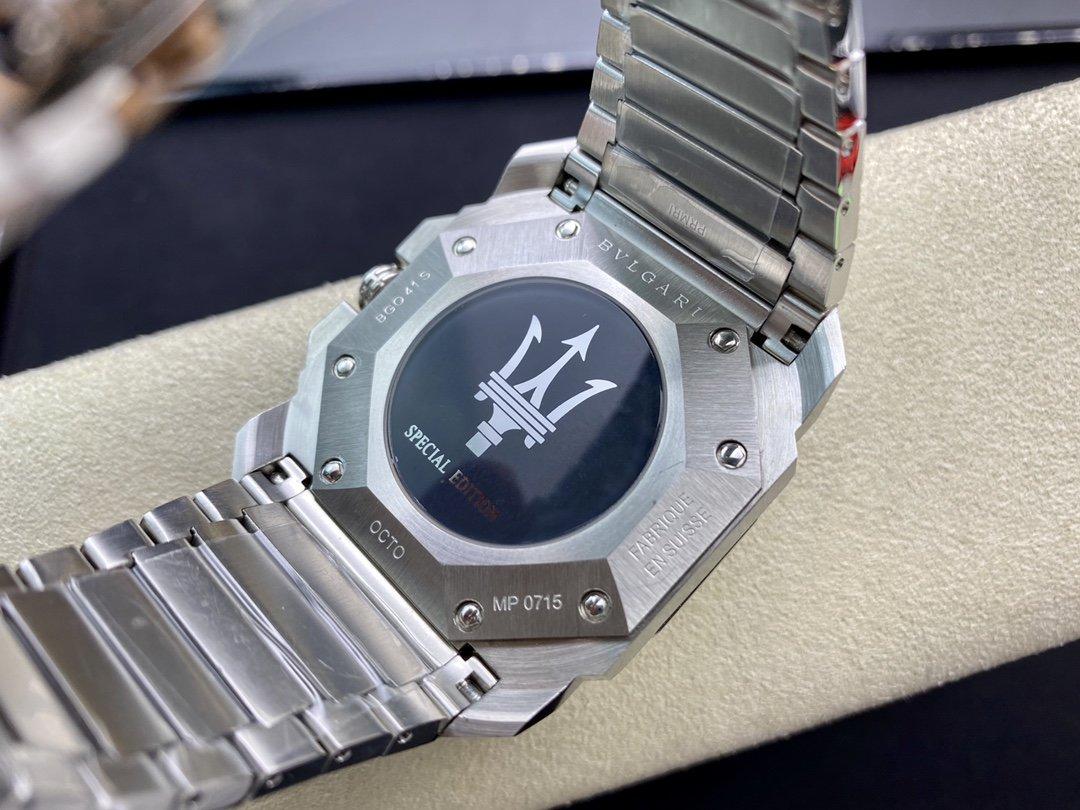 BV廠高仿寶格麗BVLGARI市場最高版本OCTO系列六針計時石英機芯42MM複刻手錶
