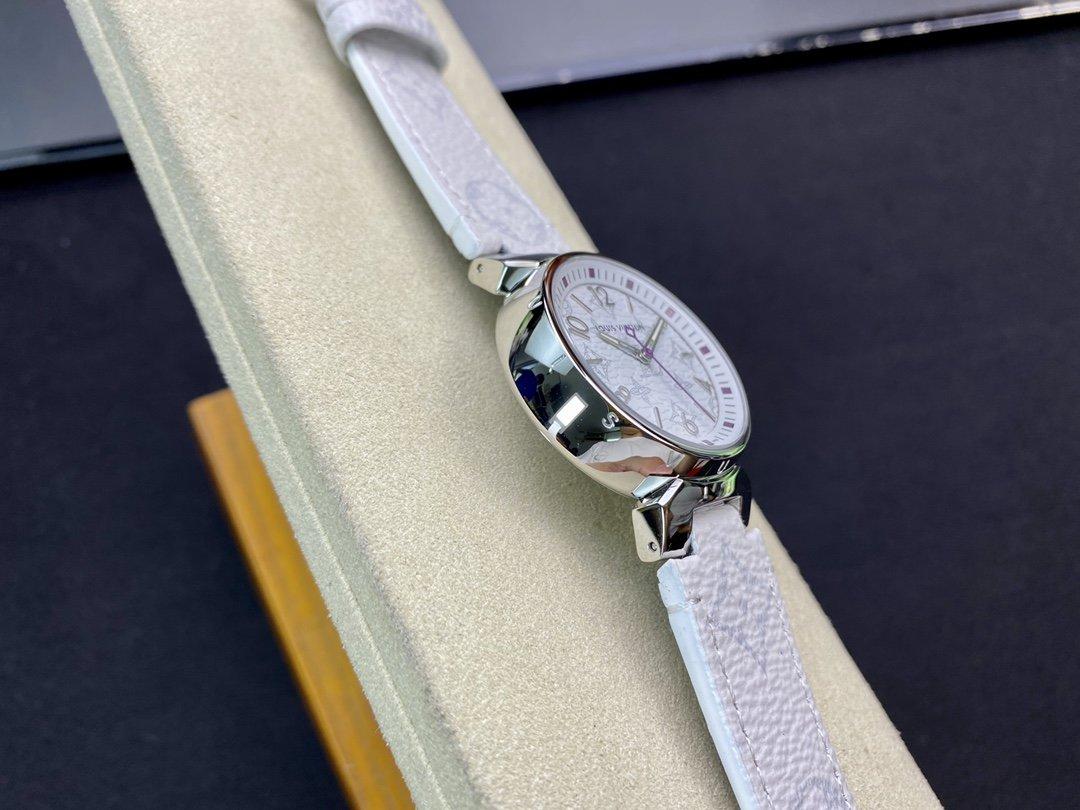 LV工廠超神之作,LV——TAMBOUR SLIM全系列瑞士石英機芯34MM高仿手錶
