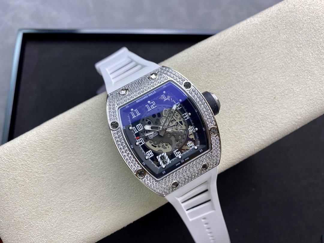 高仿理查德米勒Richard Mille 滿鑽RM010系列全自動機械機芯41MM複刻手錶