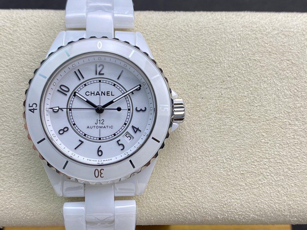 "BV廠高仿香奈兒J12腕表""換芯""CALIBER12.1自動上鏈機械機芯38MM複刻手錶"