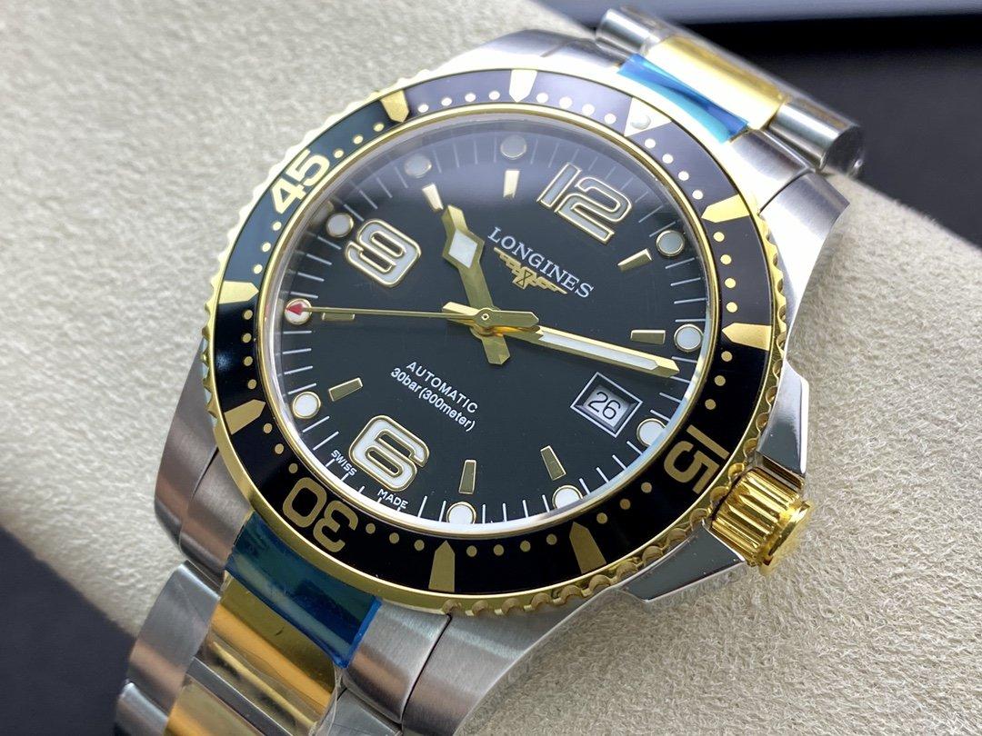 NE廠高仿浪琴康卡斯【一表一卡,三碼合一】2824機芯41MM複刻手錶