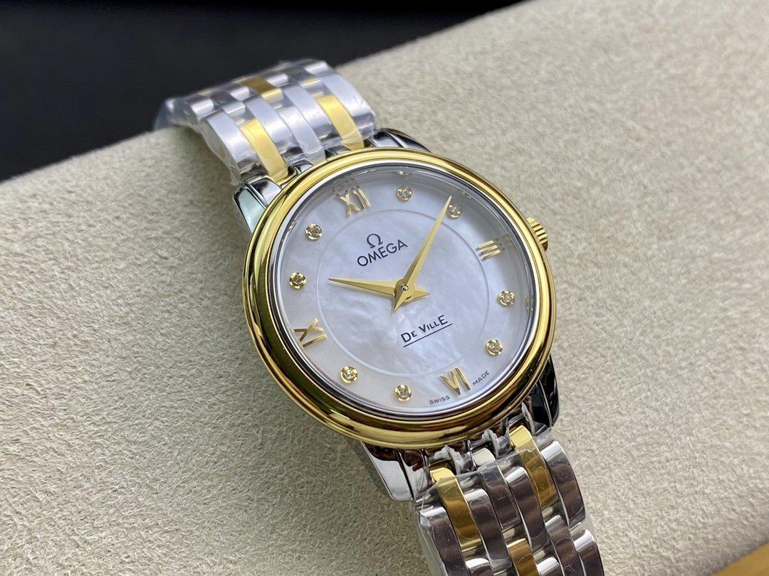 """ZF 廠真""""芯""""出品高仿 歐米茄女表蝶飛石英系列腕表27MM複刻手錶"""