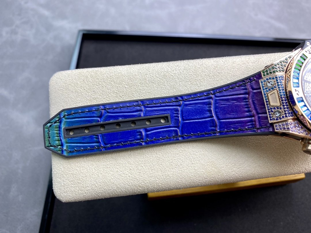 稀缺款高仿恒寶/宇珀彩虹款滿鑽大爆炸計時系列HUB1241Unico機芯45MM複刻手錶