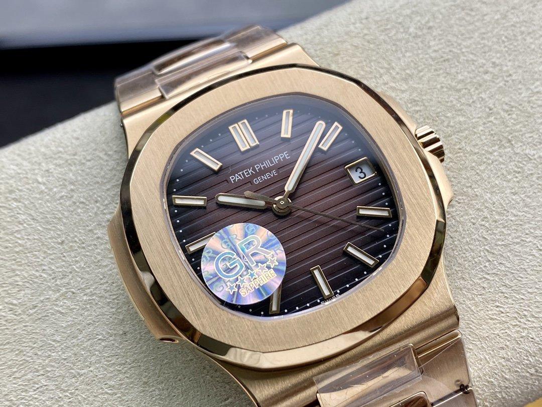 GR廠V2版本高仿百達翡麗鸚鵡螺5711/A 搭配cal.324Sc機芯複刻手錶
