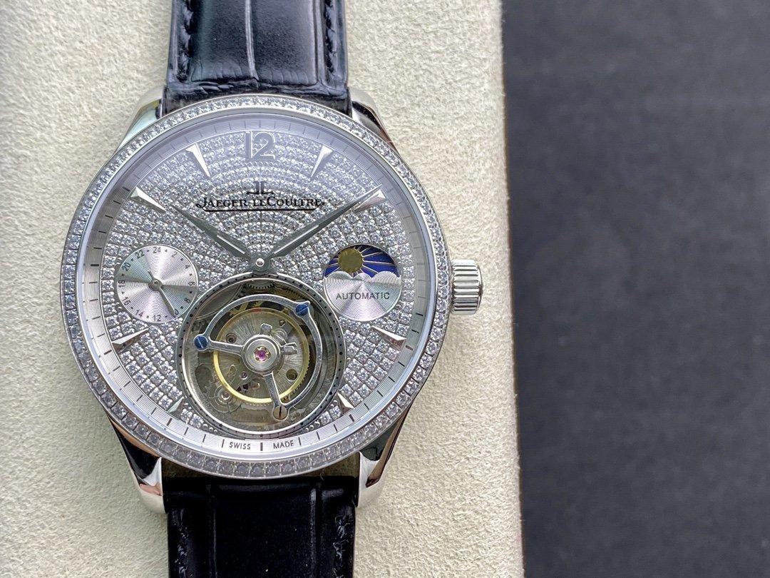 高仿積家滿鑽日月星辰頂級手動同軸陀飛輪機芯42MM複刻手錶