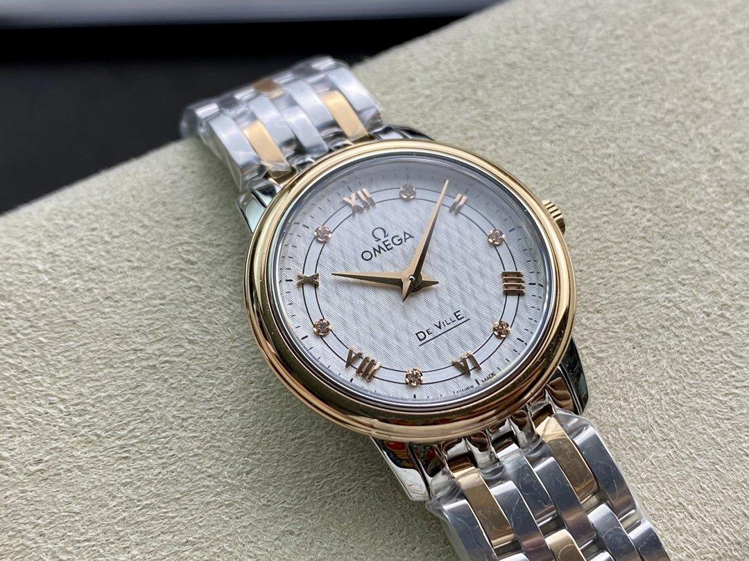 """ZF廠真""""芯""""出品高仿歐米茄 女士蝶飛石英系列1376瑞士石英機芯27MM複刻手錶"""