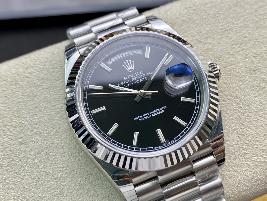 EW Factory廠V2升級版高仿勞力士Rolex星期日志型3255機芯40mm終極版複刻手錶
