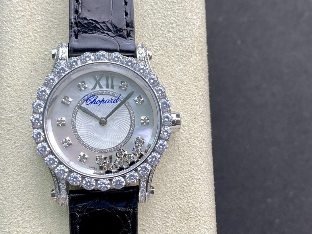 高仿蕭邦HAPPYDIAMONDS快樂鑽2892機械機芯鱷魚皮帶複刻手錶手表
