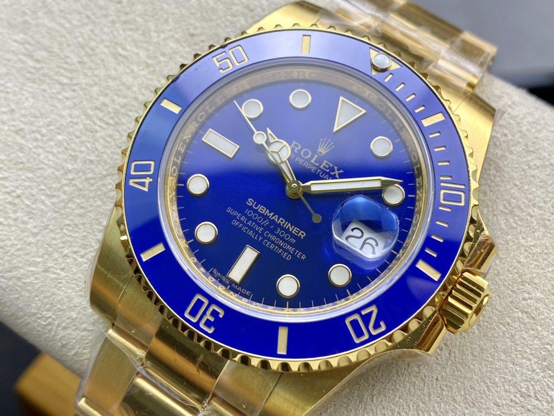 VR廠高仿勞力士全包金水鬼包金藍水鬼2836機芯40MM複刻手錶