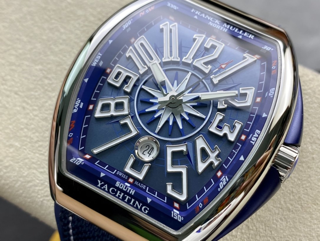 ZF廠高仿法穆蘭藍遊艇MEN'S COLLECTION系列V45遊艇複刻手錶