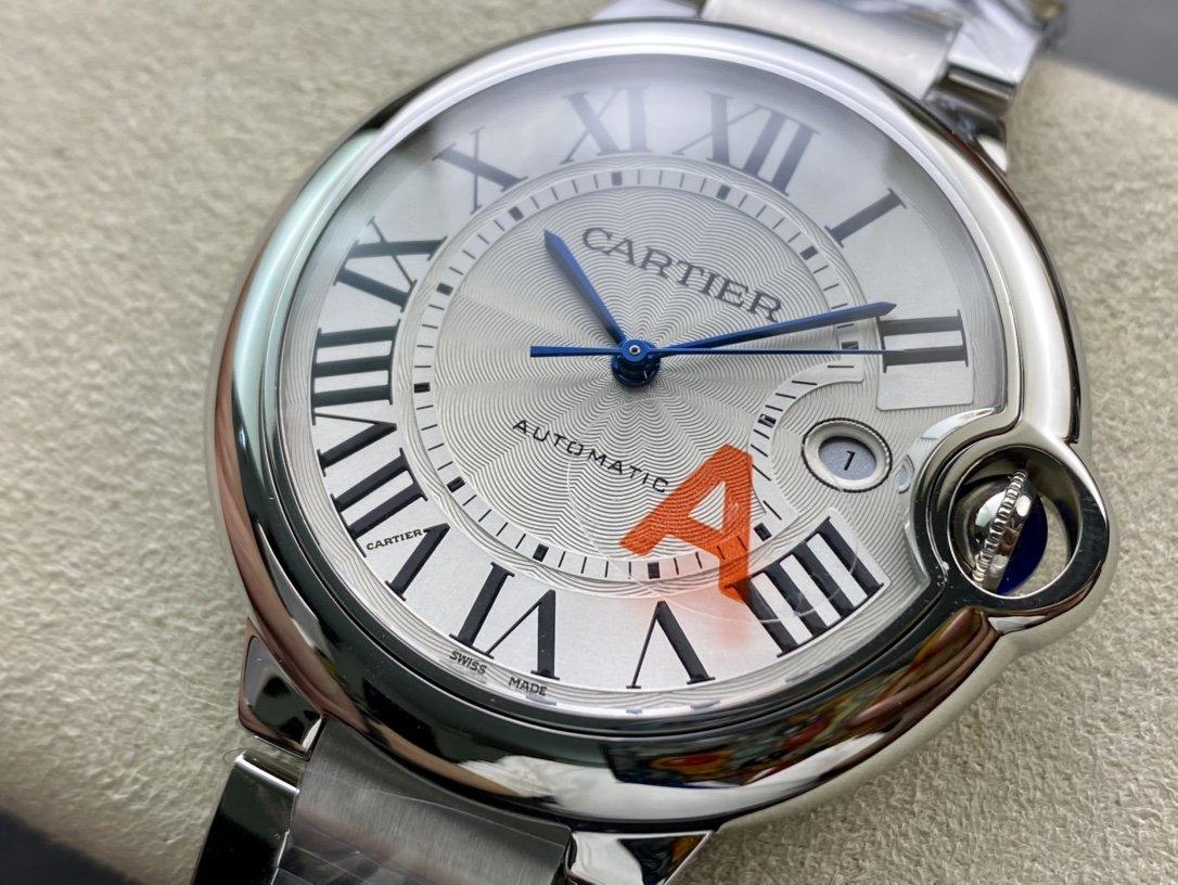 V6廠一表一卡一碼V7版高仿卡地亞藍氣球2824機芯42mm複刻手錶