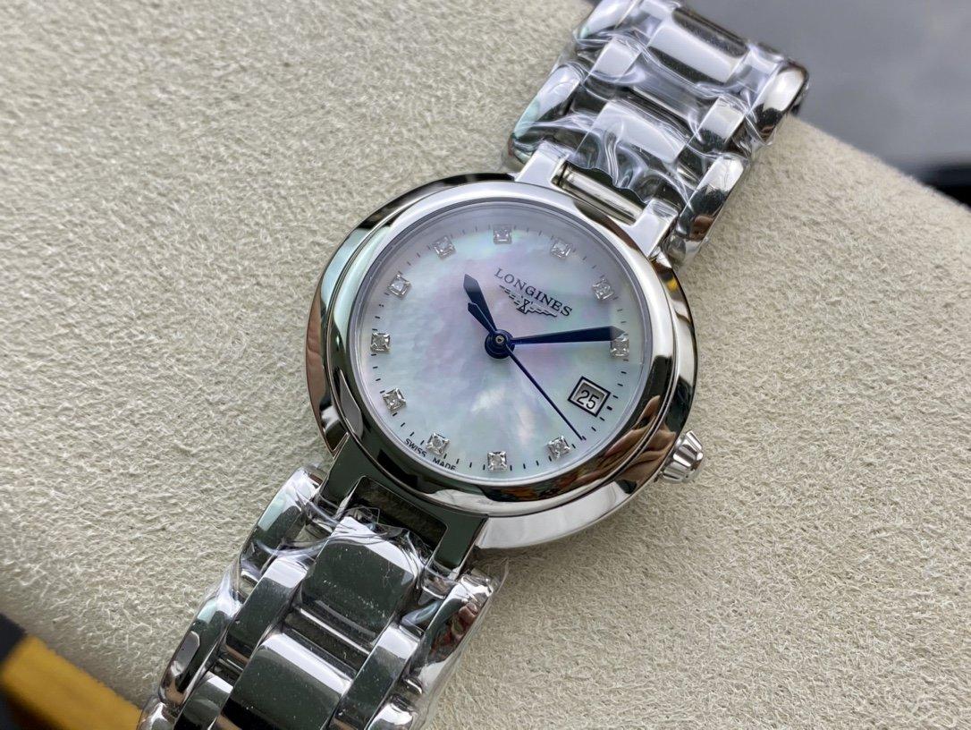 全套包裝鑽面石英款高仿浪琴心月 L81104876石英腕表複刻手錶