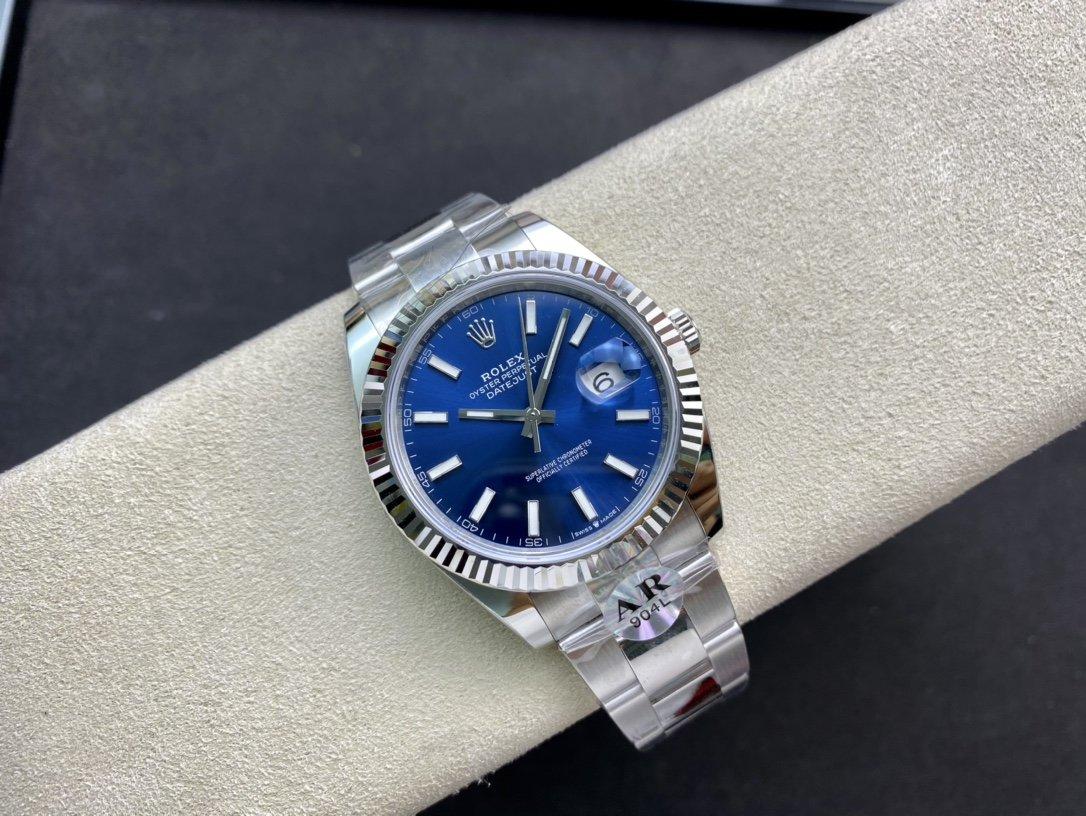 """AR廠複刻勞力士ROLEX DATEJUST進口""""904L""""日誌型41系列126334複刻手錶"""