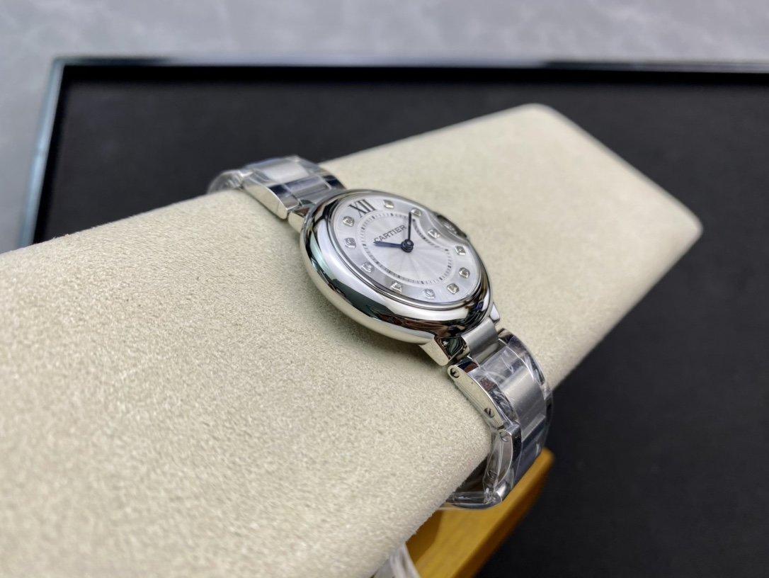 高端硬货高仿卡地亚真钻蓝气球系列瑞士石英机芯33MM复刻手表