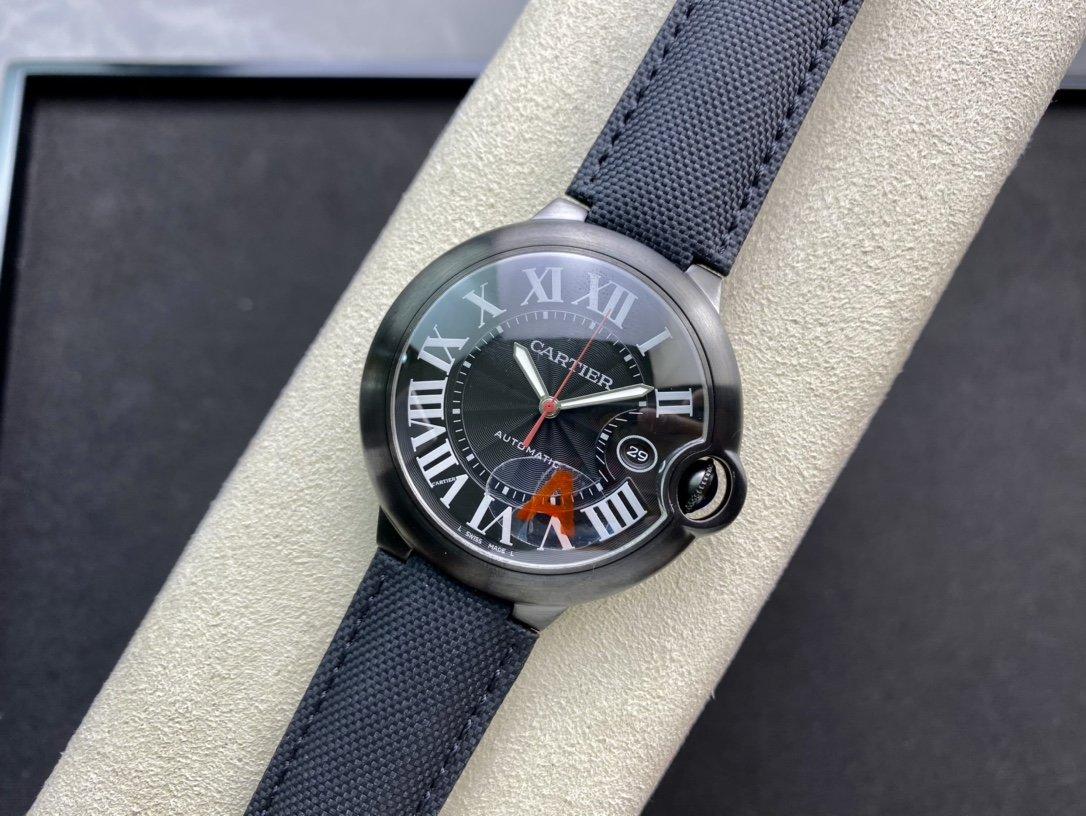 V6 Factory高仿卡地亞CARTIER與Bamford Watch Department聯手合作藍氣球黑騎士複刻手錶
