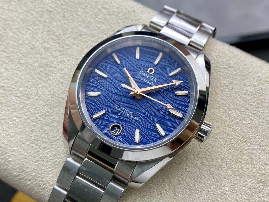 VS Factory高仿歐米茄omega海馬150M女士機械34MM一比一複刻精仿手錶