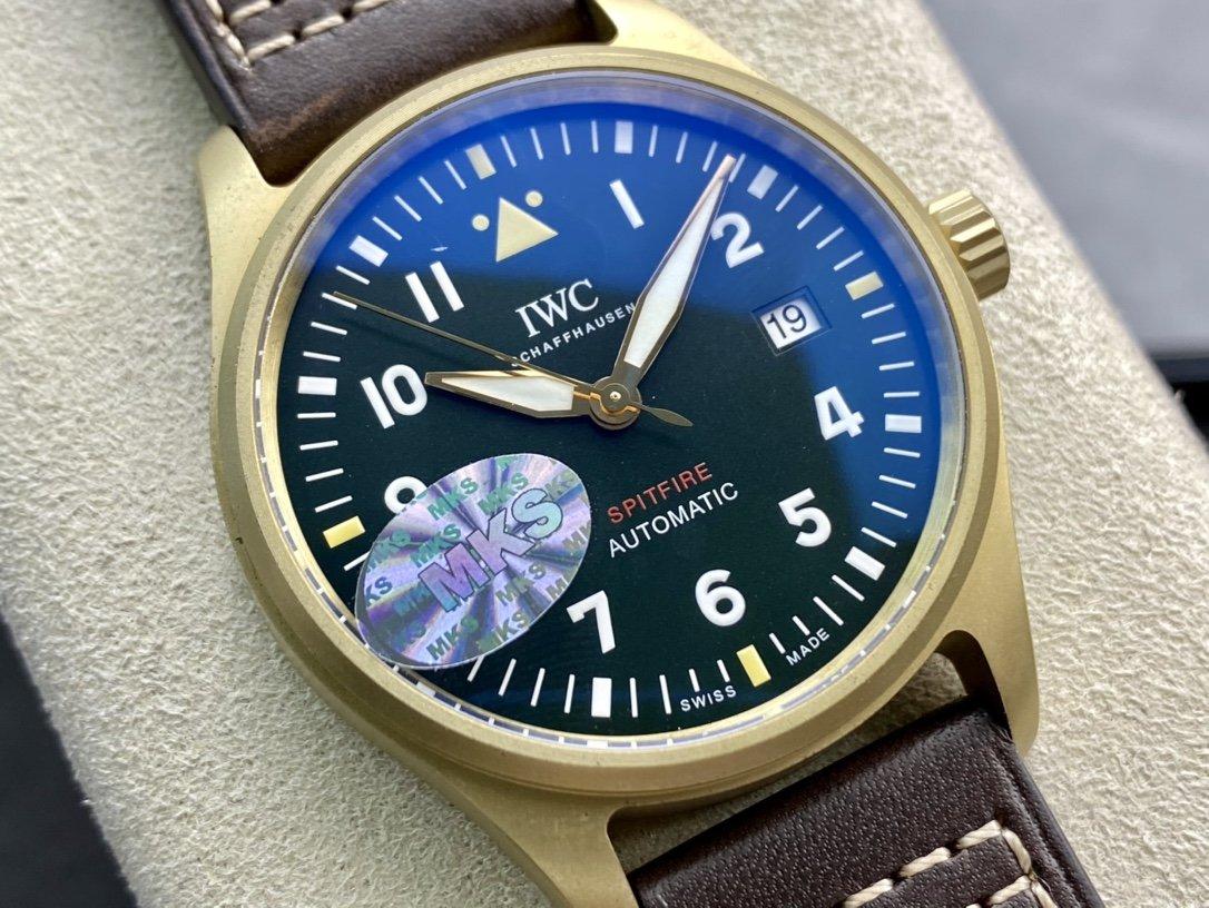 MKS廠高仿萬國IWC青銅馬克十八馬克18噴火戰機腕表複刻精仿手錶