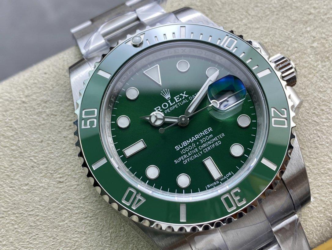 VS廠高仿勞力士3135綠水鬼搭載最新版本的Clean廠綠圈口複刻手錶
